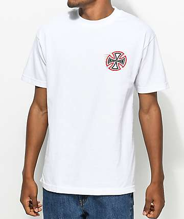 Independent Speeding Cross White T-Shirt