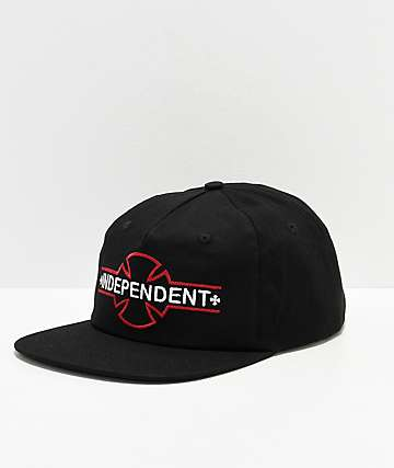 Independent Underground Black Snapback Hat