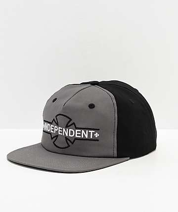 Independent Underground Grey & Black Snapback Hat