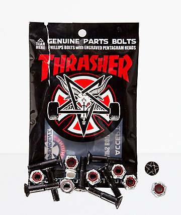 "Independent x Thrasher 1"" Black Bolts"