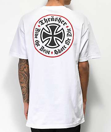 Independent x Thrasher Oath White T-Shirt