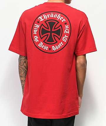 Independent x Thrasher Oath camiseta roja