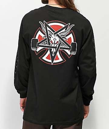 Independent x Thrasher Pentagram Black Long Sleeve T-Shirt 0df4ba92db1