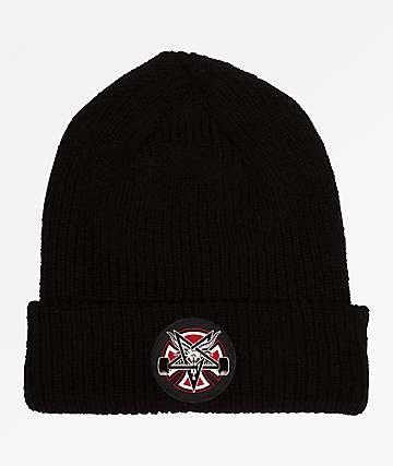 Independent x Thrasher Pentagram Cross Black Beanie
