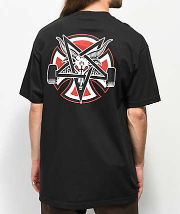 Independent x Thrasher Pentagram Cross Black T-Shirt