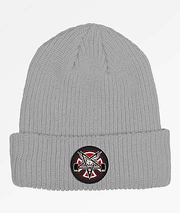 Independent x Thrasher Pentagram Cross Grey Beanie