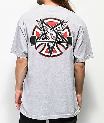 Independent x Thrasher Pentagram Grey T-Shirt