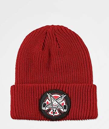 Independent x Thrasher Pentagram Red Beanie