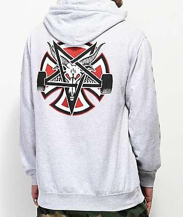 Independent x Thrasher Pentagram sudadera gris con capucha