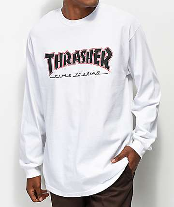 Independent x Thrasher TTG White Long Sleeve T-Shirt