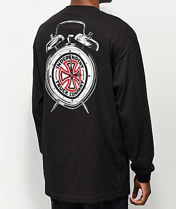 Independent x Thrasher Time To Go Black Long Sleeve T-Shirt