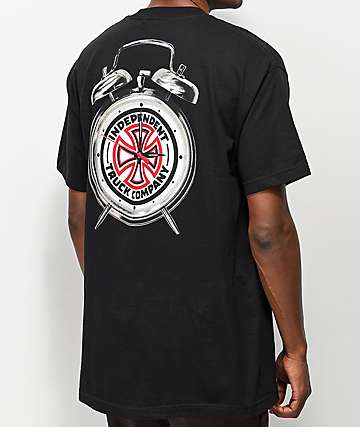 Independent x Thrasher Time To Go Black T-Shirt