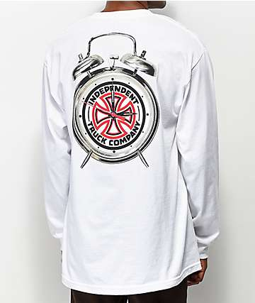 Independent x Thrasher Time To Go White Long Sleeve T-Shirt
