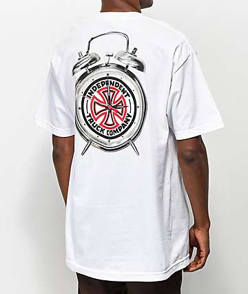 Independent x Thrasher Time To Go White T-Shirt