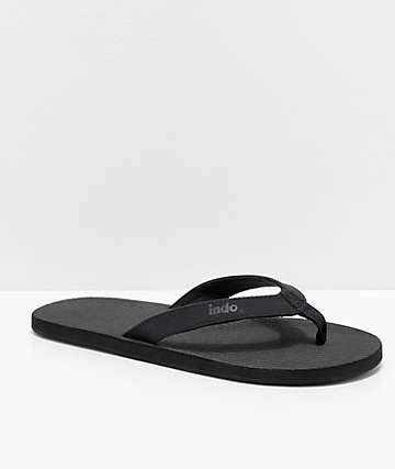 Indosole ESSNTLS Black Sandals