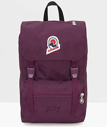 Invicta Jolly Solid Purple Backpack