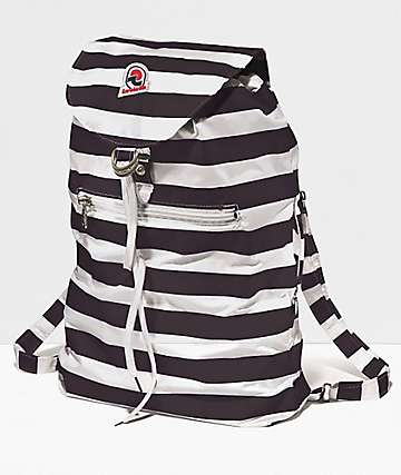 Invicta Minisac Next Black & White Mini Backpack