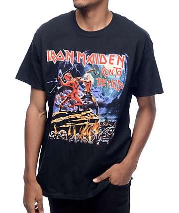 Iron Maiden Run To The Hills camiseta negra