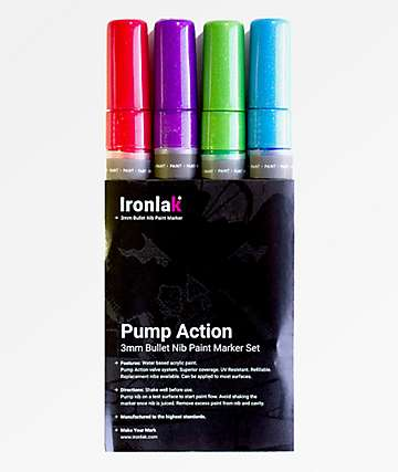 Ironlak 4 Pack Metallic Paint Markers
