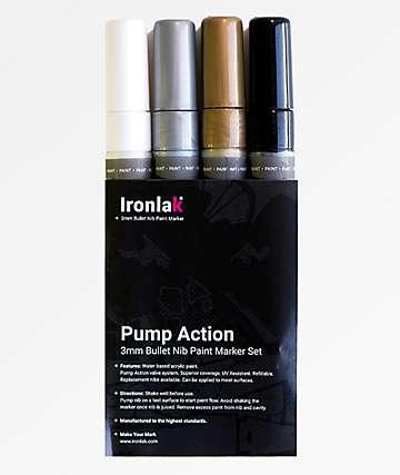 Ironlak Creative paquete de 4 marcadores de pintura