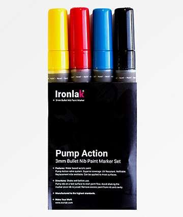 Ironlak Primaries paquete de 4 marcadores de pintura