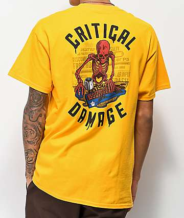 J!NX Critical Damage Gold T-Shirt