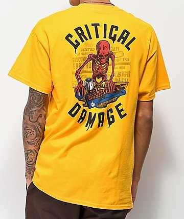 J!NX Critical Damage camiseta dorada