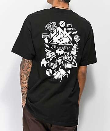 J!NX Now Serving camiseta negra
