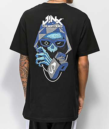 J!NX x Shroud Hood Black T-Shirt