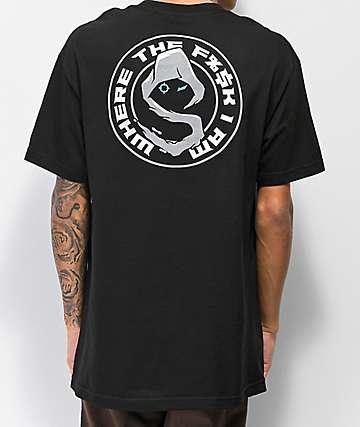 J!NX x Shroud Logo Black T-Shirt