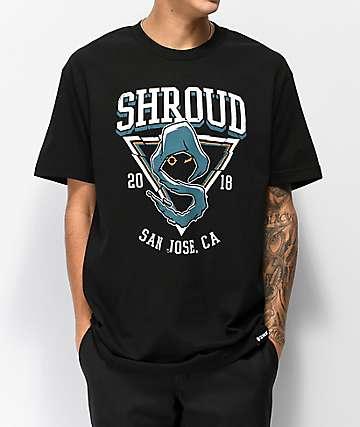 J!NX x Shroud San Jose camiseta negra