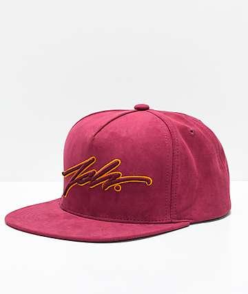 JSLV Burgundy Snapback Hat