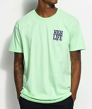 JSLV Highlife Crest camiseta en menta