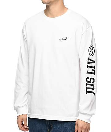 JSLV Jus Liv 2 White Long Sleeve T-Shirt