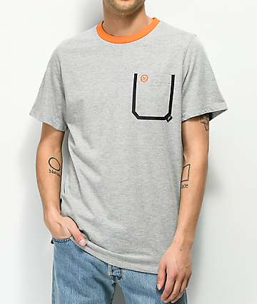 JSLV Lazer Grey Pocket T-Shirt