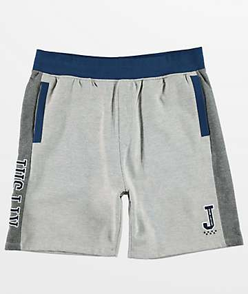 JSLV Majors Custom Grey & White Fleece Shorts