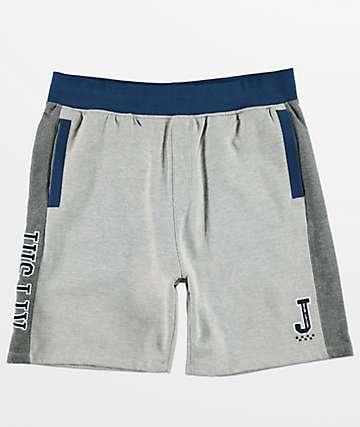 JSLV Majors Custom shorts de polar gris y blanco