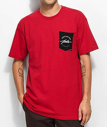 JSLV Round Select camiseta roja con bolsillo