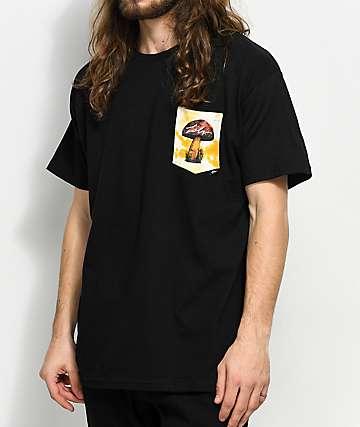 JSLV Shroomies Select camiseta negra con bolsillo