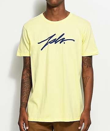 JSLV Signature Select camiseta en color amarillo banano