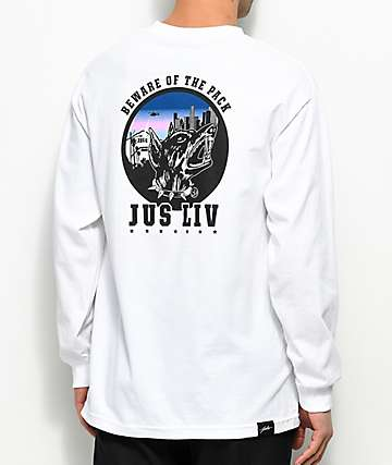 JSLV The Pack White Long Sleeve T-Shirt