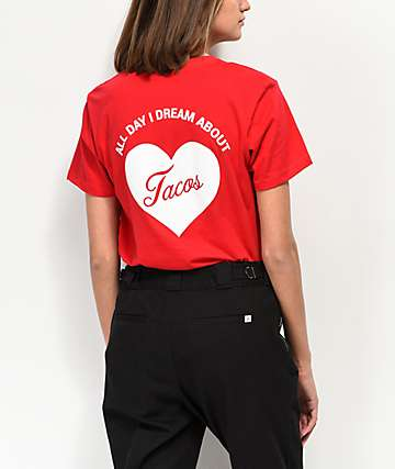 JV By Jac Vanek Dream About Tacos Red T-Shirt