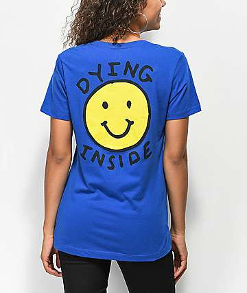 JV By Jac Vanek Dying Inside Blue T-Shirt