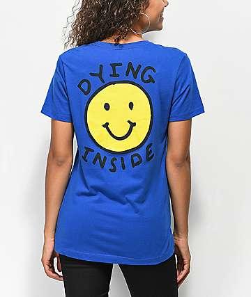 JV By Jac Vanek Dying Inside camiseta azul