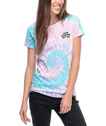 JV By Jac Vanek I Hate Everyone camiseta con efecto tie dye