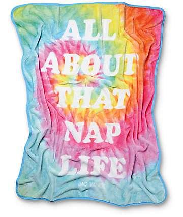 JV By Jac Vanek Nap Life Manda en teñido anudado arcoíris