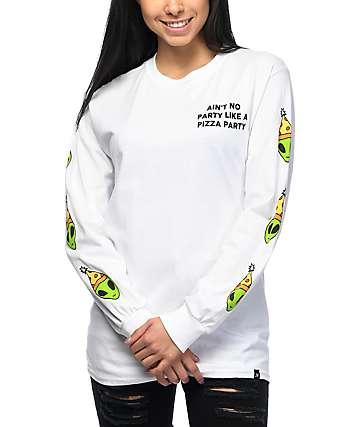 JV by Jac Vanek Ain't No Party Long Sleeve White T-Shirt