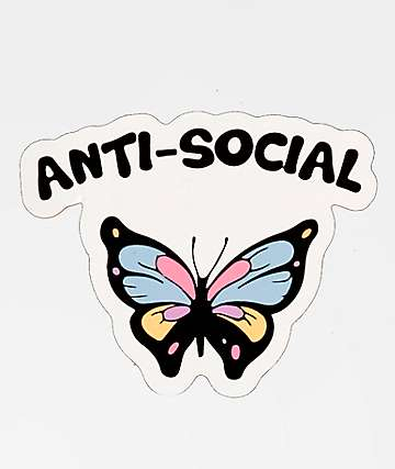 JV by Jac Vanek Anti-Social Sticker