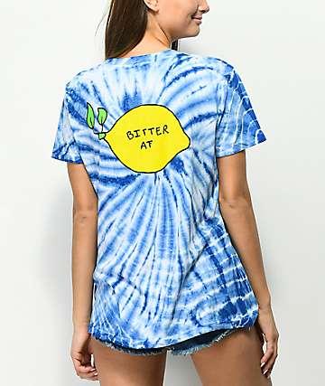 JV by Jac Vanek Bitter AF Blue Tie Dye T-Shirt