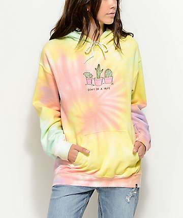 JV by Jac Vanek Don't Be A Prick Tie Dye Hoodie